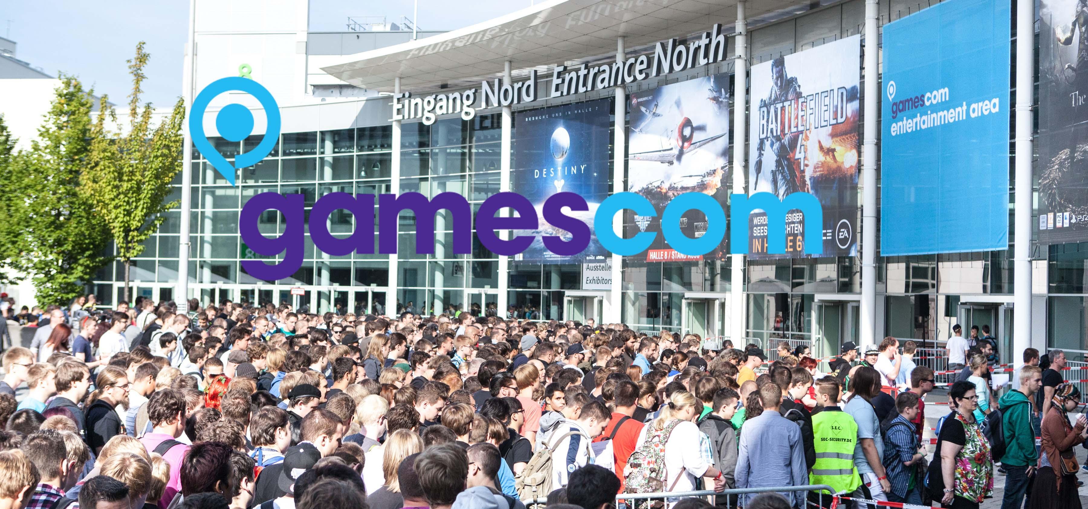 Einlass zur gamescom 2013. Eingang Nord